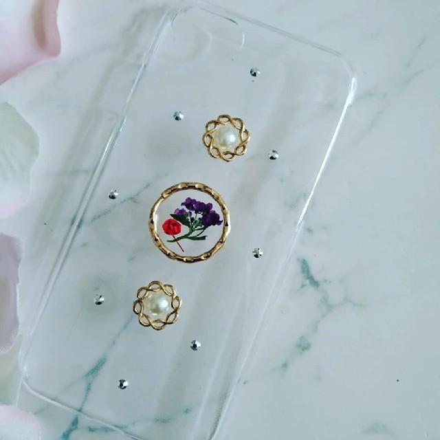 グッチ アイフォーンxs ケース 三つ折 / iPhoneケース ハンドメイド かすみ草とアリッサムの押し花の通販 by RSI's shop|ラクマ
