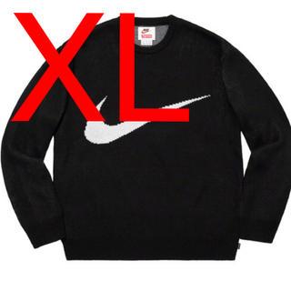 シュプリーム(Supreme)のNike Swoosh Sweater black スウォシュセーター 黒 (ニット/セーター)