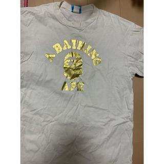 アベイシングエイプ(A BATHING APE)の激安Lサイズ!初期 BAPE金箔カレッジ猿Tシャツ(Tシャツ/カットソー(半袖/袖なし))