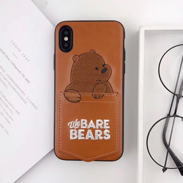 adidas iphone7 ケース 激安 、 iPhoneケース ぼくらベアベアーズ ブラウンの通販 by くま's shop|ラクマ