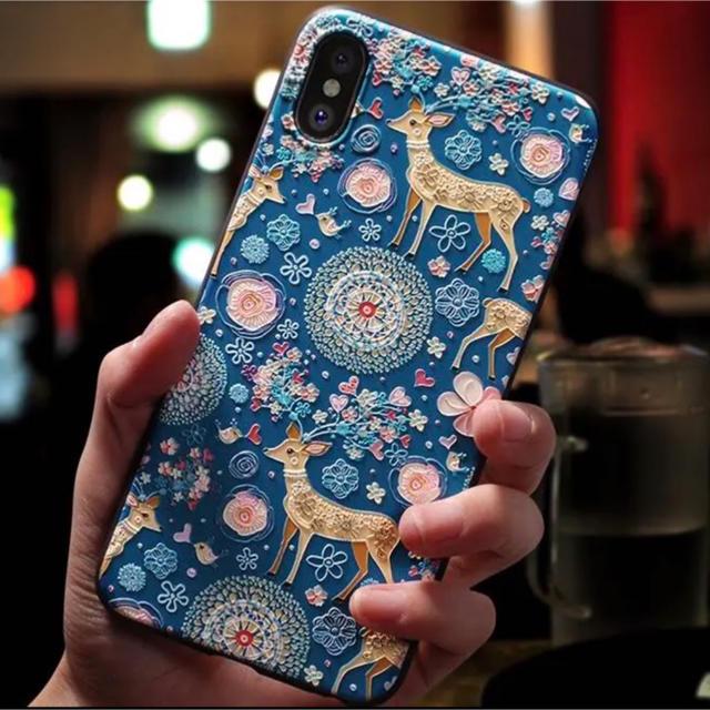 iPhone XR ケース スマホケース 可愛い 立体感 小鹿 こじかの通販 by ksk's shop|ラクマ