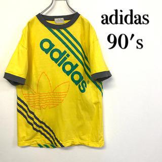 アディダス(adidas)の美品 90's adidas Tシャツ ビッグトレフォイルロゴ(Tシャツ/カットソー(半袖/袖なし))