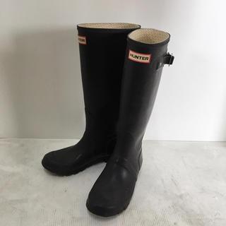 ハンター(HUNTER)のハンター レインブーツ 24.5(EU 38) ダークブラウン(レインブーツ/長靴)