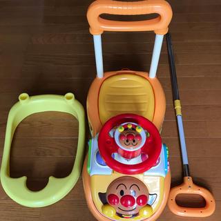 アンパンマン(アンパンマン)のアンパンマン よくばりビジーカー押し棒+ガード付き ☆お引き取りのみ☆(手押し車/カタカタ)