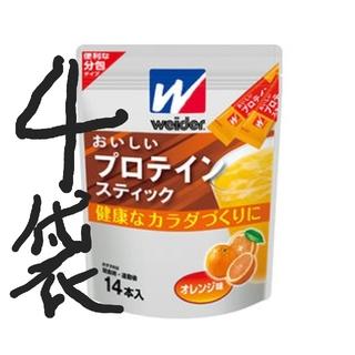 モリナガセイカ(森永製菓)の専用8袋おいしいプロテインスティック 14本(1本10g)×4袋(プロテイン)