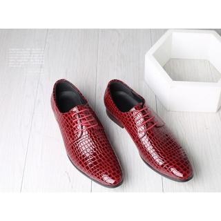 クロコダイル 紳士ビジネスシューズ 本革保証 ワニ革 天然革 靴 メンズシューズ(ドレス/ビジネス)