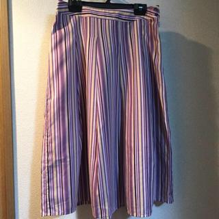 オゾック(OZOC)の✴︎新品✴︎ OZOC ストライプ フレア スカート(ひざ丈スカート)