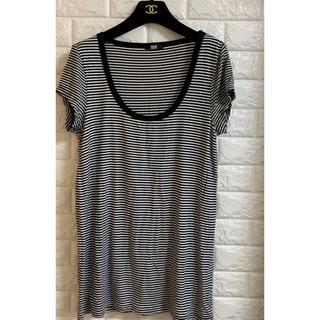 スライ(SLY)のスライ ボーダーロング丈Tシャツ サイズ2(Tシャツ(半袖/袖なし))