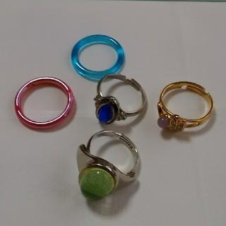 フリーサイズリング、ガラスリング まとめ売り(リング(指輪))