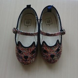 ギャップ(GAP)のgap 猫 靴 シューズ 7 14センチ ラメ ピンク(フラットシューズ)