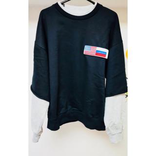 オフホワイト(OFF-WHITE)のGosha Rubchinskiy Double Sleeve Flag(スウェット)