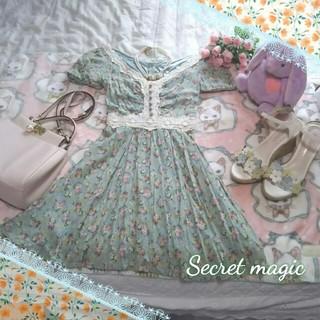 シークレットマジック(Secret Magic)の♡Secret magic♡花柄☆刺繍編みチェニックワンピース♡(チュニック)