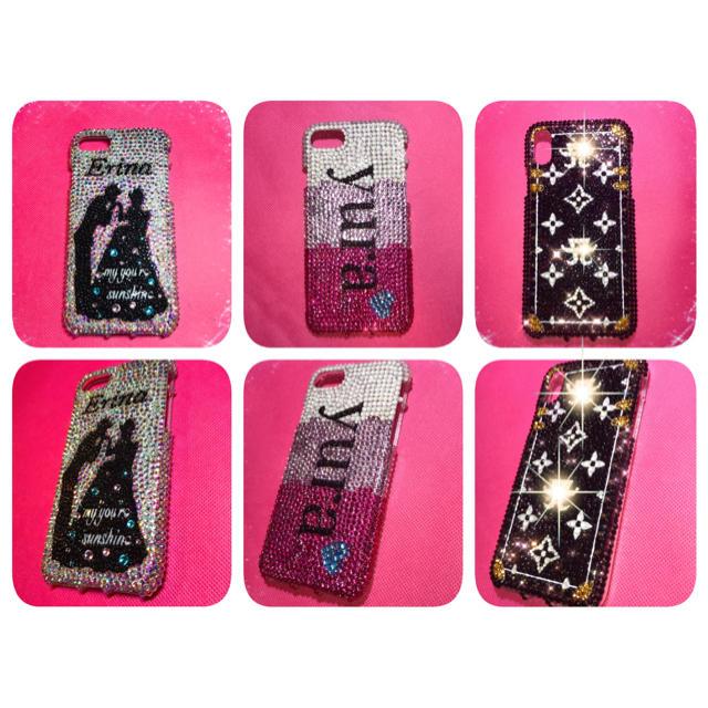 iphone x シリコン ケース 、 デコケースの通販 by ☆'s shop|ラクマ