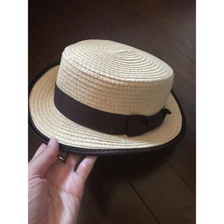 イング(INGNI)の美品 カンカン帽(麦わら帽子/ストローハット)