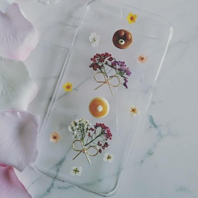Coach Galaxy S6 Edge ケース 財布 、 iPhoneケース ハンドメイド クマちゃんとアリッサムの押し花の通販 by RSI's shop|ラクマ