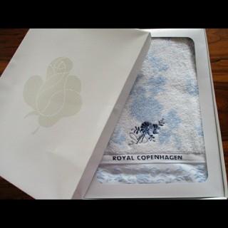 ロイヤルコペンハーゲン(ROYAL COPENHAGEN)のロイヤルコペンハーゲン ブルー花柄バスタオル(タオル/バス用品)
