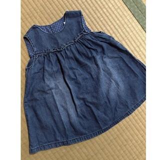 エイチアンドエム(H&M)のデニム ジャンパースカート 86(ワンピース)