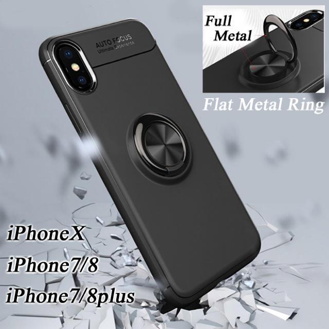 iPhone7/8 XS XR フラットリング付き シリコンケースの通販 by エランドル's shop|ラクマ