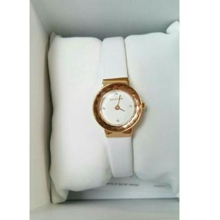 スカーゲン(SKAGEN)のskagen   ホワイト  腕時計(腕時計)