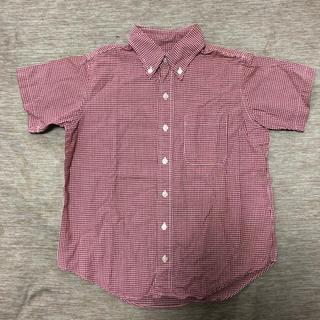 ユニクロ(UNIQLO)のUNIQLO kids 赤ギンガムチェック 半袖シャツ(ブラウス)