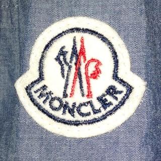 モンクレール(MONCLER)の美品MONCLERポケッタブルブルゾン インディゴ サイズ4(ブルゾン)