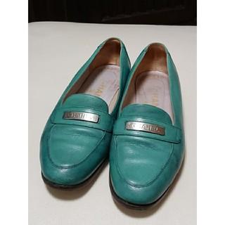 シャネル(CHANEL)のシャネル CHANEL ローファー パンプス サイズ37 1/2 グリーン中古品(ローファー/革靴)