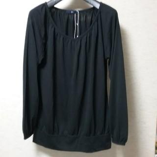 ジーユー(GU)のGU ジーユー レディース ギャザー ブラウス トップス カットソー 新品(Tシャツ(長袖/七分))