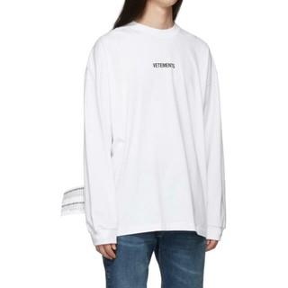 シュプリーム(Supreme)の新品正規品 VETEMENTS 19FW ロゴ ロングスリーブTシャツ (Tシャツ(長袖/七分))