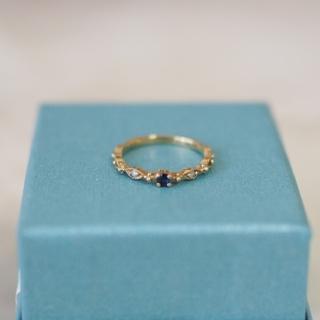 サファイア ダイヤモンド ピンキーリング 1号 (リング(指輪))