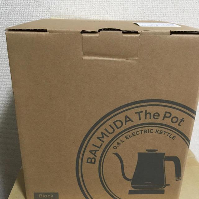 BALMUDA(バルミューダ)の【新品未開封】 (ブラック)バルミューダ ポット BALMUDA 電気ケトル スマホ/家電/カメラの生活家電(電気ケトル)の商品写真