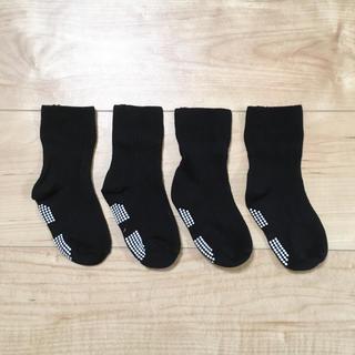 ニシマツヤ(西松屋)の靴下 黒 9-14cm(靴下/タイツ)