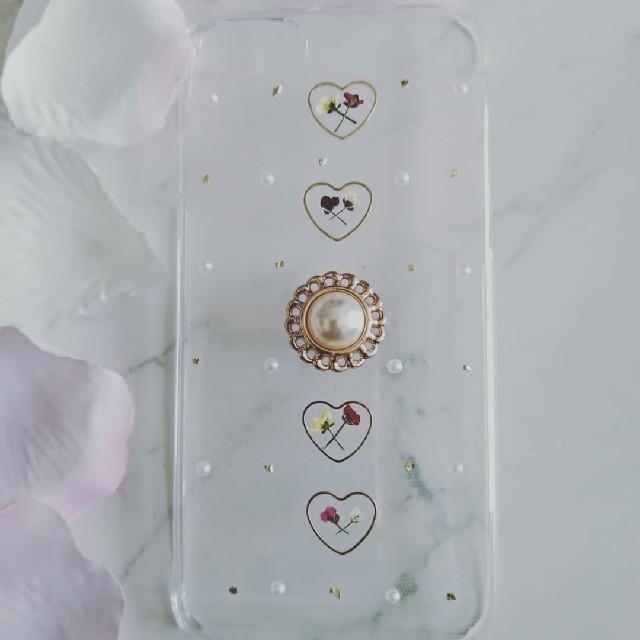 iPhoneケース ハンドメイド カボションとアリッサムの押し花の通販 by RSI's shop|ラクマ