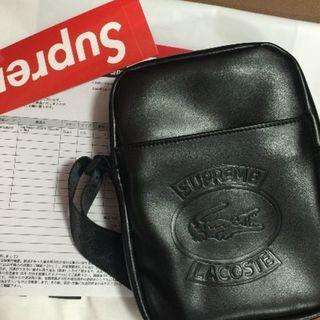 シュプリーム(Supreme)のSupreme/LACOSTE Shoulder Bag ブラック(ショルダーバッグ)