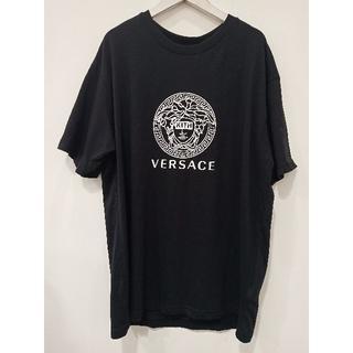 ヴェルサーチ(VERSACE)のヴェルサーチ KITHコラボ モノクロメデューサモチーフTシャツ 黒 (Tシャツ/カットソー(半袖/袖なし))