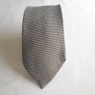 エトロ(ETRO)の良品 エトロ ネクタイ 伊製 シルク/コットン 水色/茶色(ネクタイ)