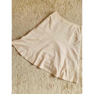 デミルクスビームス(Demi-Luxe BEAMS)のオフホワイトフレアスカート(ひざ丈スカート)