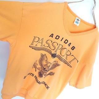 アディダス(adidas)の日本製★old adidas 鹿の子 Vネック Tシャツ(Tシャツ/カットソー(半袖/袖なし))