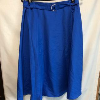 ニッセン(ニッセン)のブルー スカート 大きサイズ ニッセン 3L 青い 青(ひざ丈スカート)