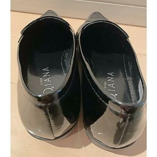 ダイアナ(DIANA)の美品 DlANA エナメルフラットシューズ(ローファー/革靴)