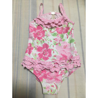 ネクスト(NEXT)の美品!nextネクストの花柄フリルの可愛いピンク水着2〜3歳!95100(水着)