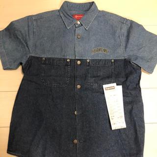 シュプリーム(Supreme)のシュプリーム デニムシャツ ブルー S(Tシャツ/カットソー(半袖/袖なし))
