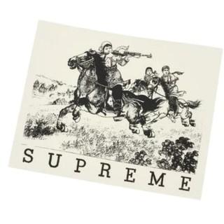 シュプリーム(Supreme)の送料無料【Supreme】シュプリーム ステッカー デカール シール 黒x白  (ステッカー)