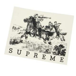 シュプリーム(Supreme)の送料無料【Supreme】ステッカー デカール シール 黒x白(ステッカー)