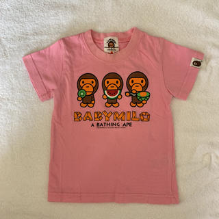 アベイシングエイプ(A BATHING APE)のエイプ ベビーマイロ 半袖 Tシャツ 90センチ(Tシャツ/カットソー)