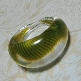 硝子細工 リング 10号 グリーン(リング(指輪))