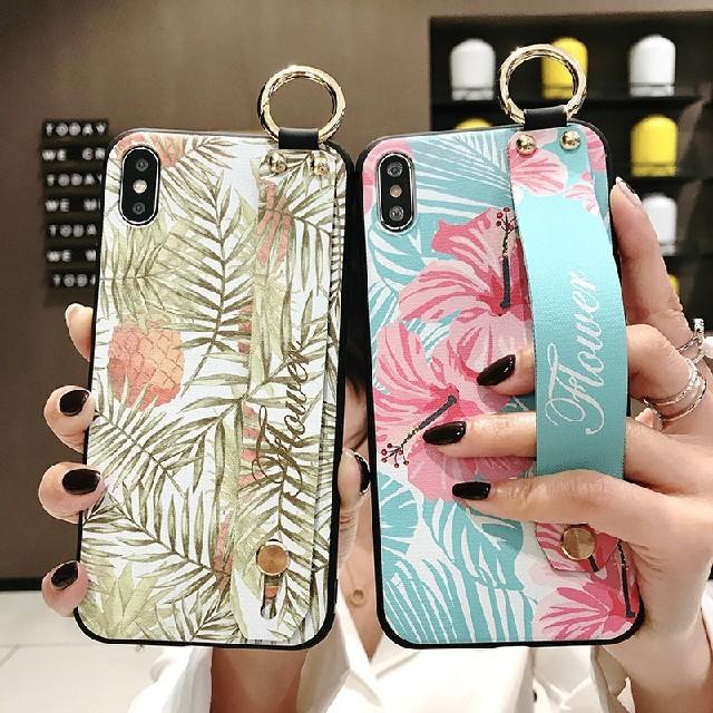 i phone アクセサリー | iPhoneXR専用ケース ハンドベルト付き ボタニカル ハイビスカスの通販 by HIRO's shop|ラクマ