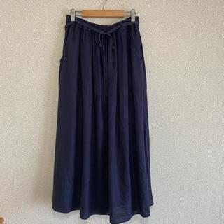 LA MARINE FRANCAISE - LA MARINE FRANCAISE リネンロングギャザースカート