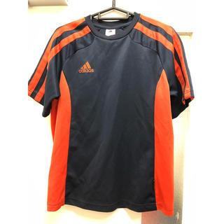 アディダス(adidas)のadidas アディダス Tシャツ 赤×紺(Tシャツ/カットソー(半袖/袖なし))