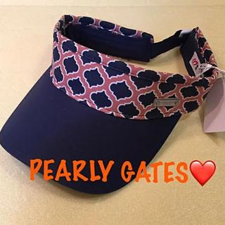 パーリーゲイツ(PEARLY GATES)の新品■7,560円【パーリーゲイツ】サンバイザー ネイビー(その他)