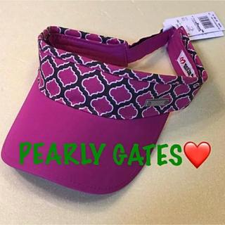 パーリーゲイツ(PEARLY GATES)の新品■7,560円【パーリーゲイツ】サンバイザー パープル 紫(その他)